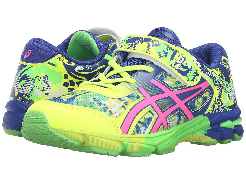 ASICS Kids - Gel-Noosa Tri 11 PS (Toddler/Little Kid) (Safety Yellow/Pink Glow/Asics Blue) Girls Shoes