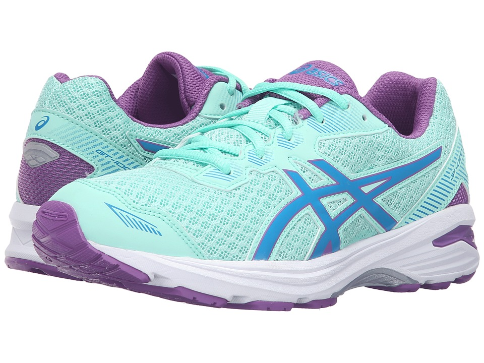 ASICS Kids - GT-1000 5 GS (Little Kid/Big Kid) (Mint/Blue Jewel/Orchid) Girls Shoes