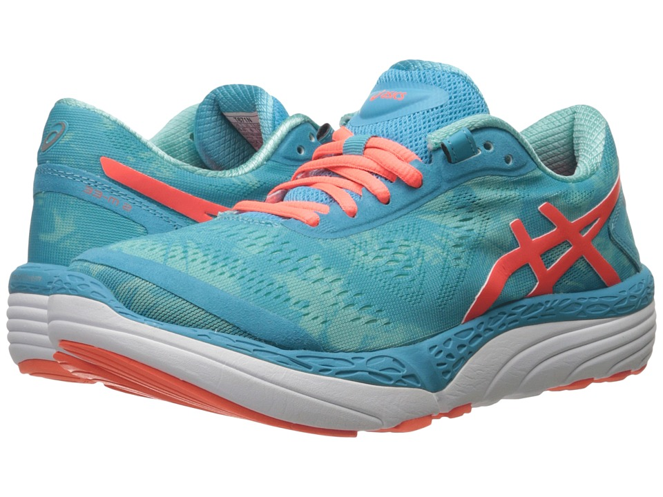 ASICS - 33-M 2 (Aquarium/Flash Coral/Aruba Blue) Women's Running Shoes