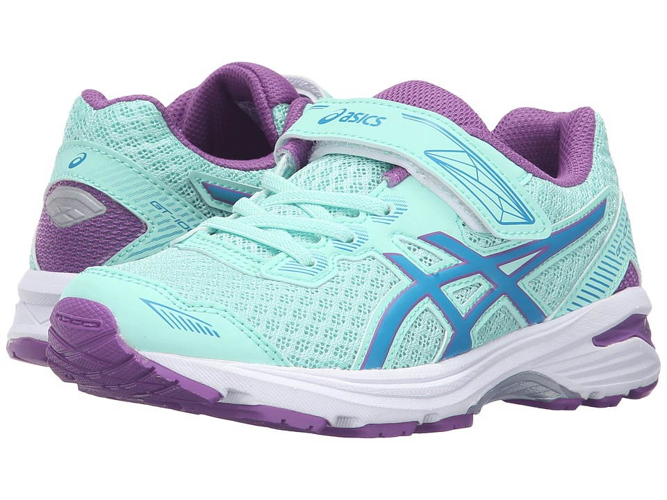 ASICS Kids - GT-1000 5 PS (Toddler/Little Kid) (Mint/Blue Jewel/Orchid) Girls Shoes