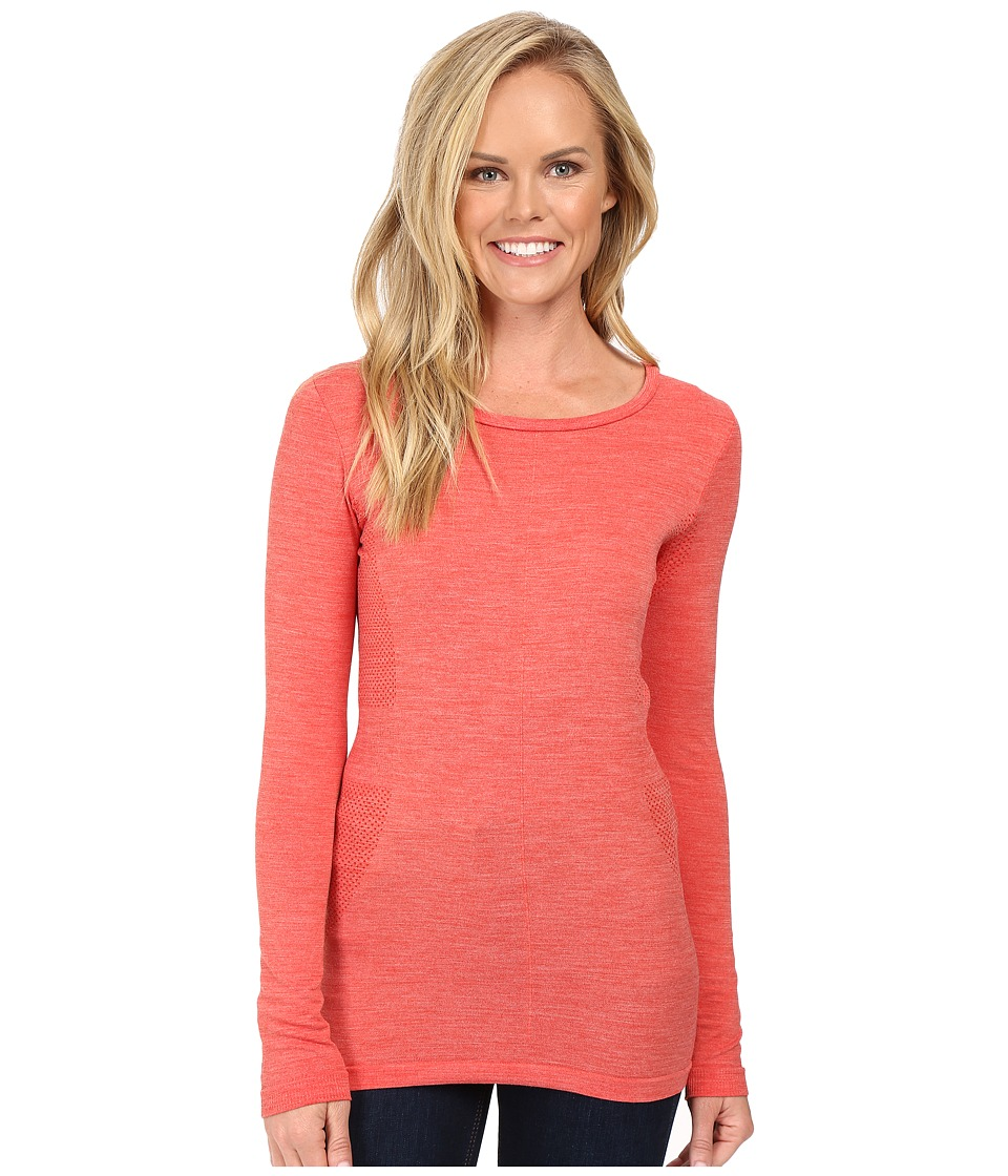The North Face - Long Sleeve Go Seamless Wool Top (High Risk Red Dark Heather) Women's Long Sleeve Pullover