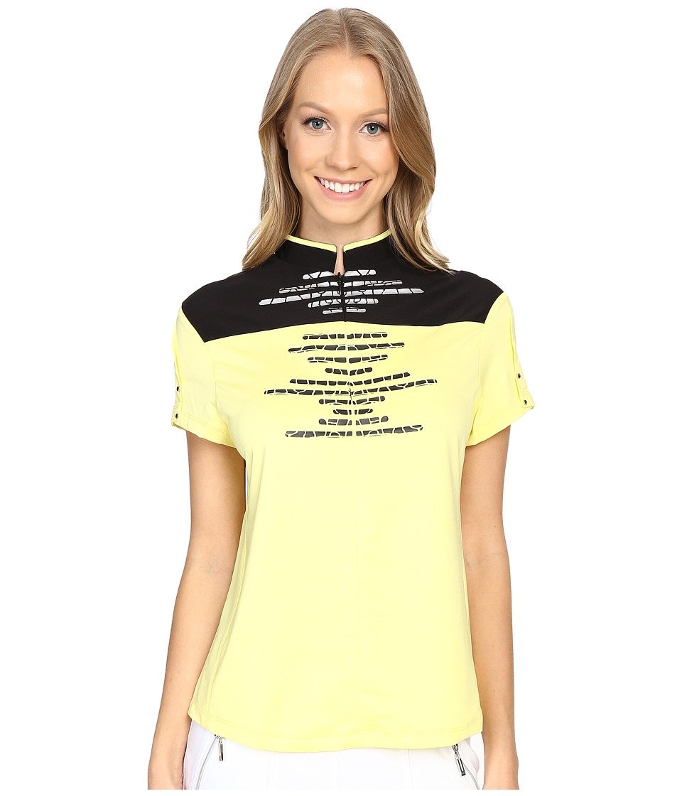 Jamie Sadock - Cindy Short Sleeve Top (Buttercup 1) Women's Short Sleeve Knit