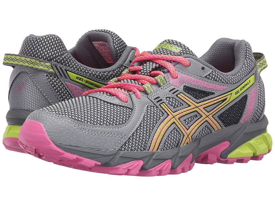 ASICS - GEL-Sonoma 2 (Aluminum/Neon Lime/Hot Pink) Women's Running Shoes