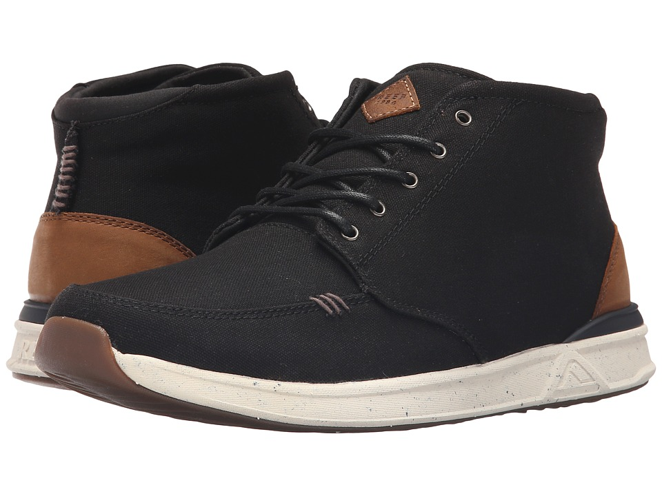 Reef - Rover Mid (Black) Men's Lace up casual Shoes