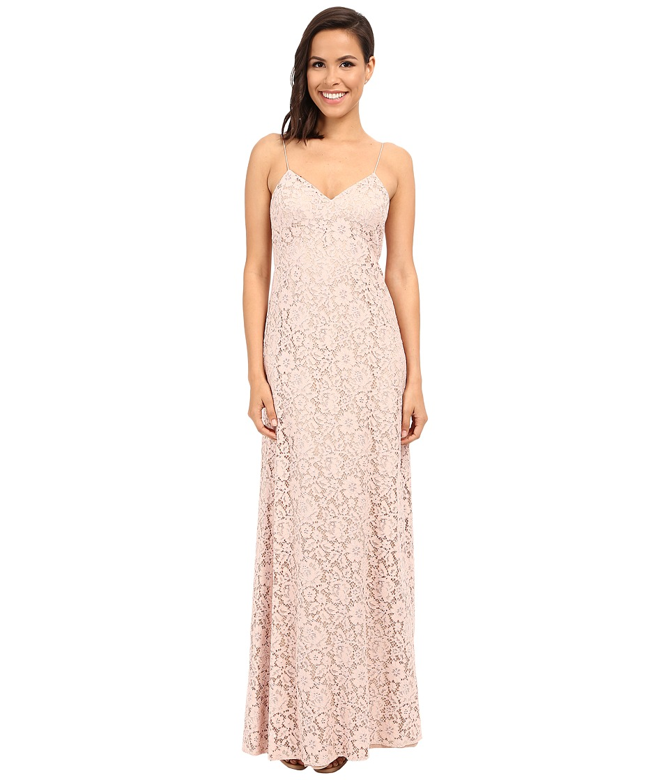 Donna Morgan - Gia Spaghetti Strap Slip Dress (Pearl Pink) Women's Dress