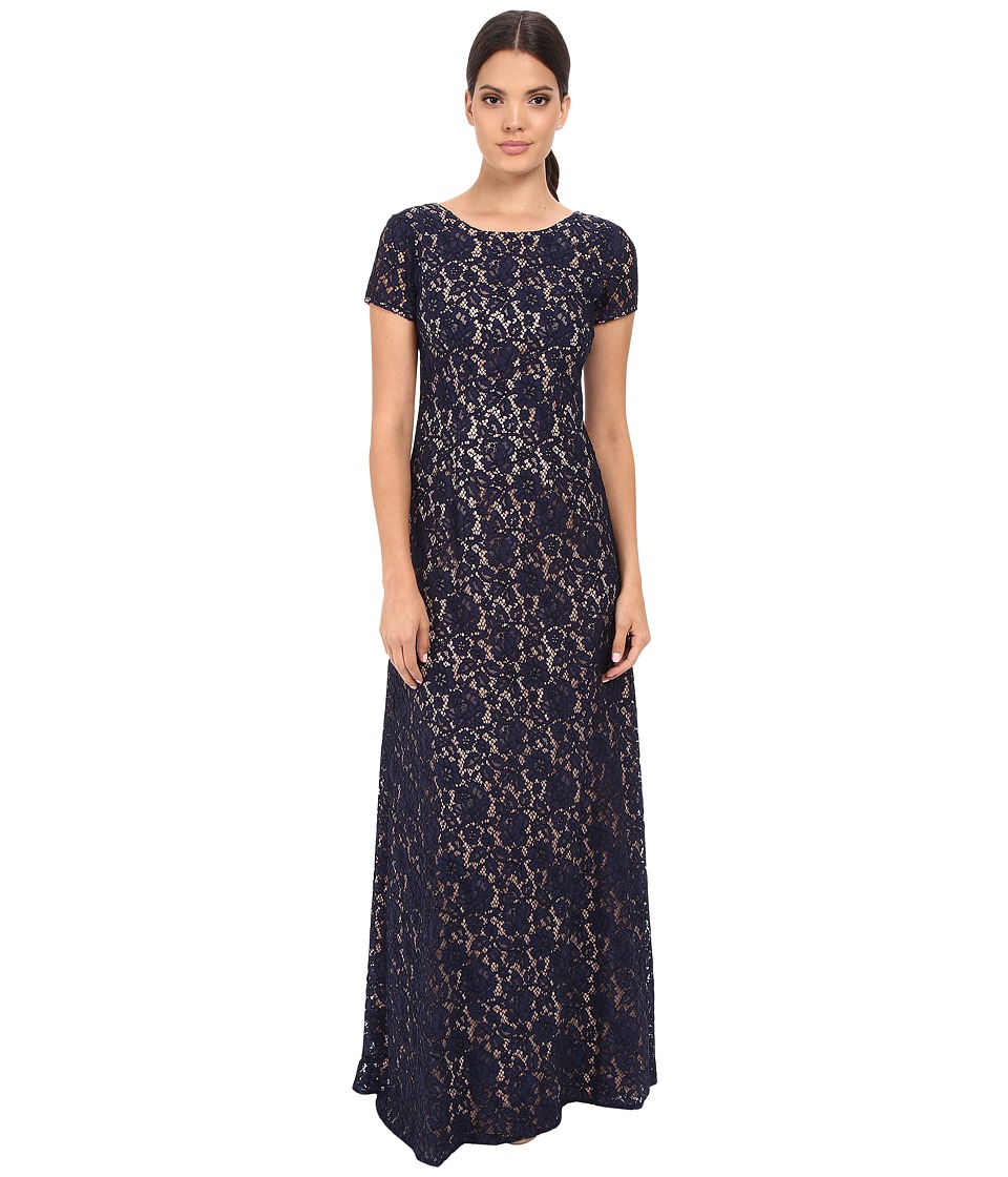 Donna Morgan - Alice Cap Sleeve Dress (Indigo) Women's Dress