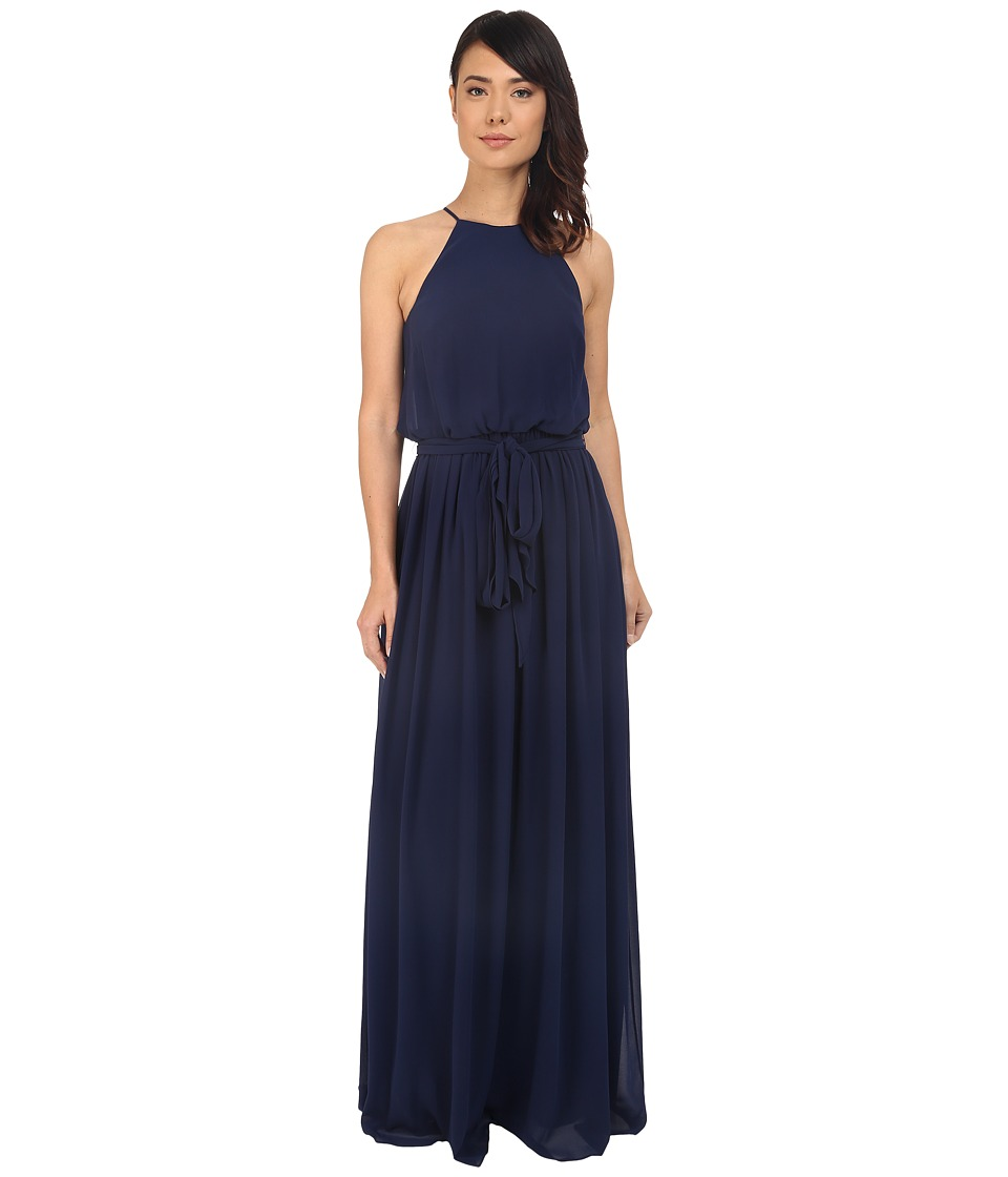 Donna Morgan - Alana Drape Blouson Gown (Midnight) Women's Dress