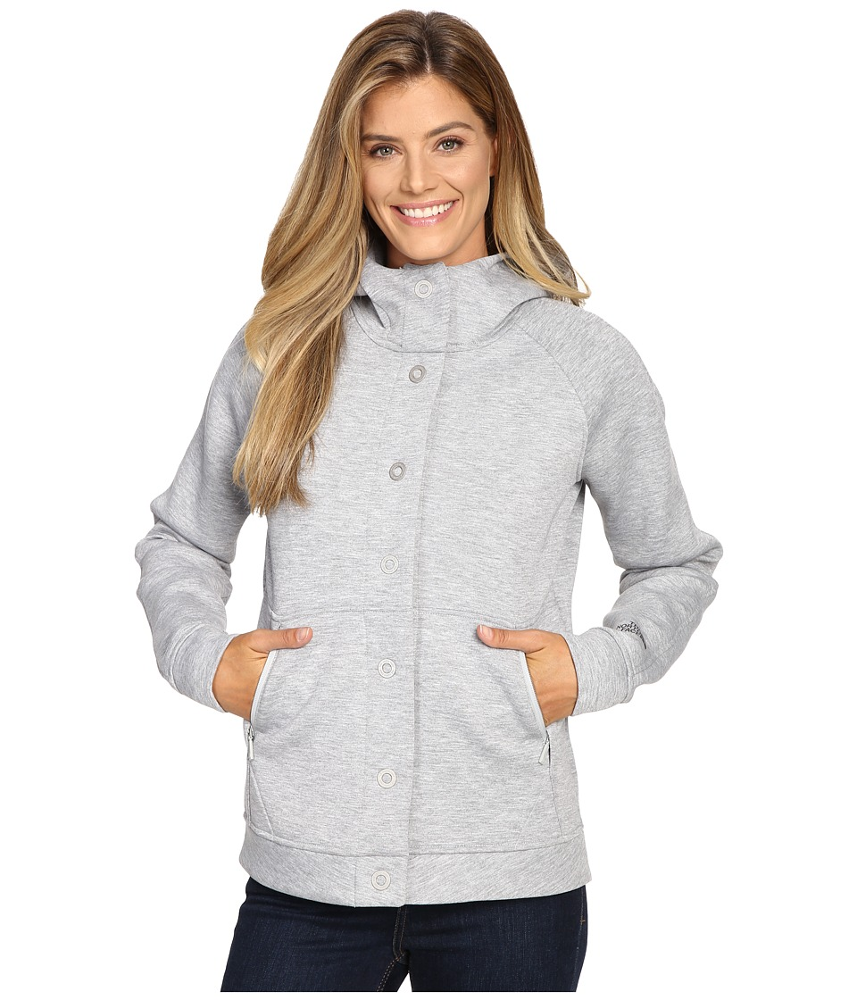 The North Face - Neo Thermal Snap Hoodie (TNF Light Grey Heather) Women's Sweatshirt