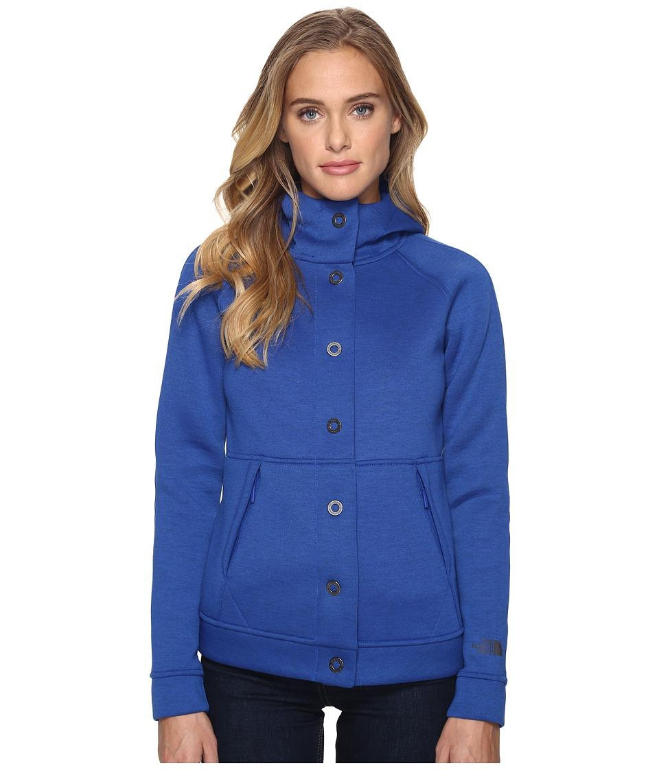 The North Face - Neo Thermal Snap Hoodie (Bright Cobalt Blue/Black Heather (Prior Season)) Women's Sweatshirt