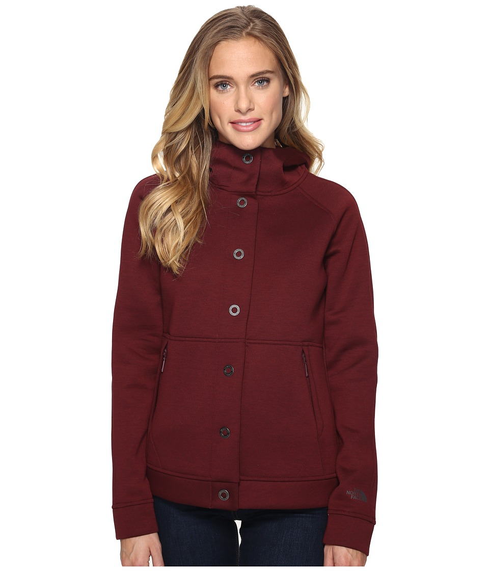 The North Face - Neo Thermal Snap Hoodie (Deep Garnet Red/Black Heather (Prior Season)) Women's Sweatshirt