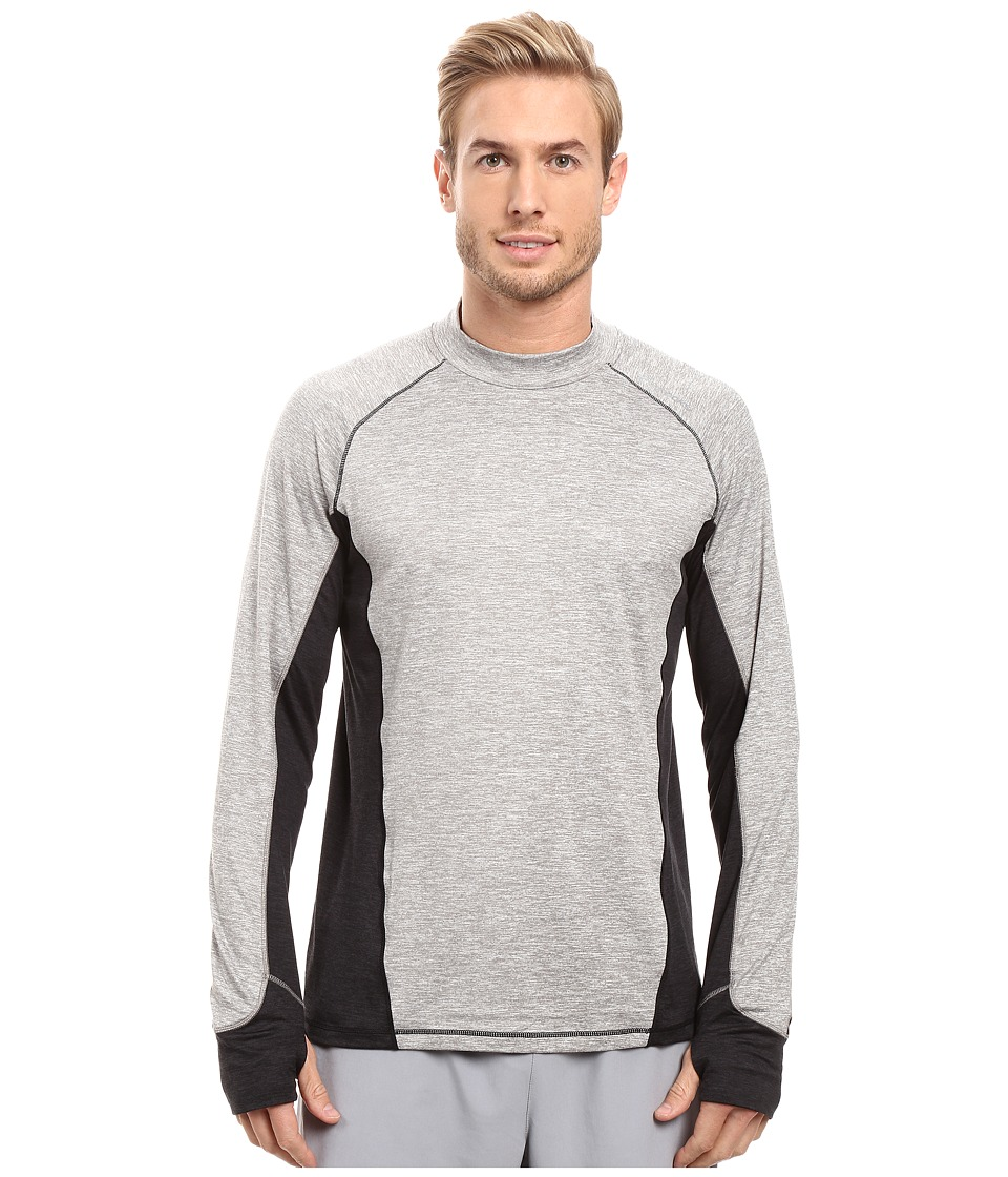Brooks - Dash Long Sleeve Top (Heather Oxford/Heather Black) Men's Long Sleeve Pullover