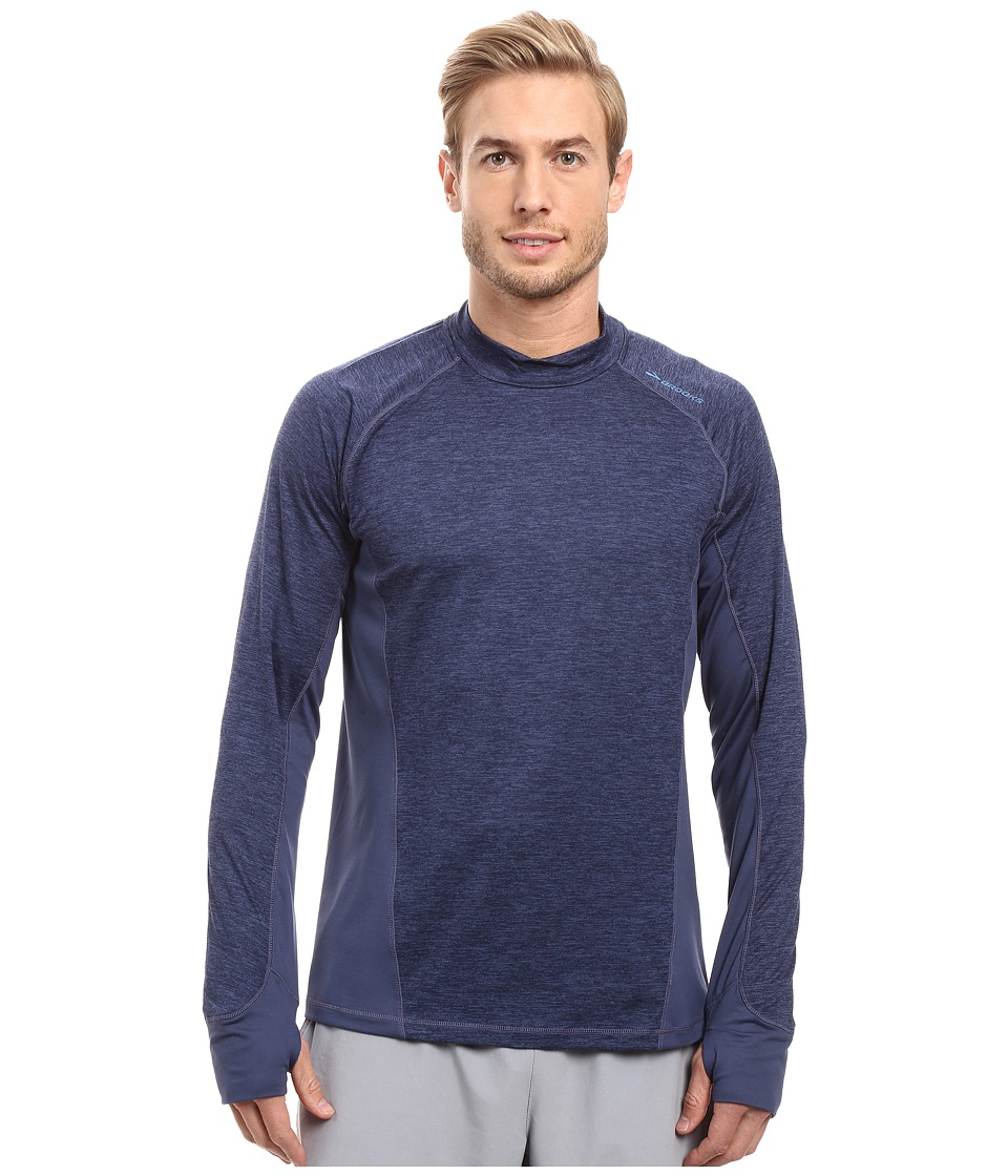 Brooks - Dash Long Sleeve Top (Heather Coast/Coast) Men's Long Sleeve Pullover