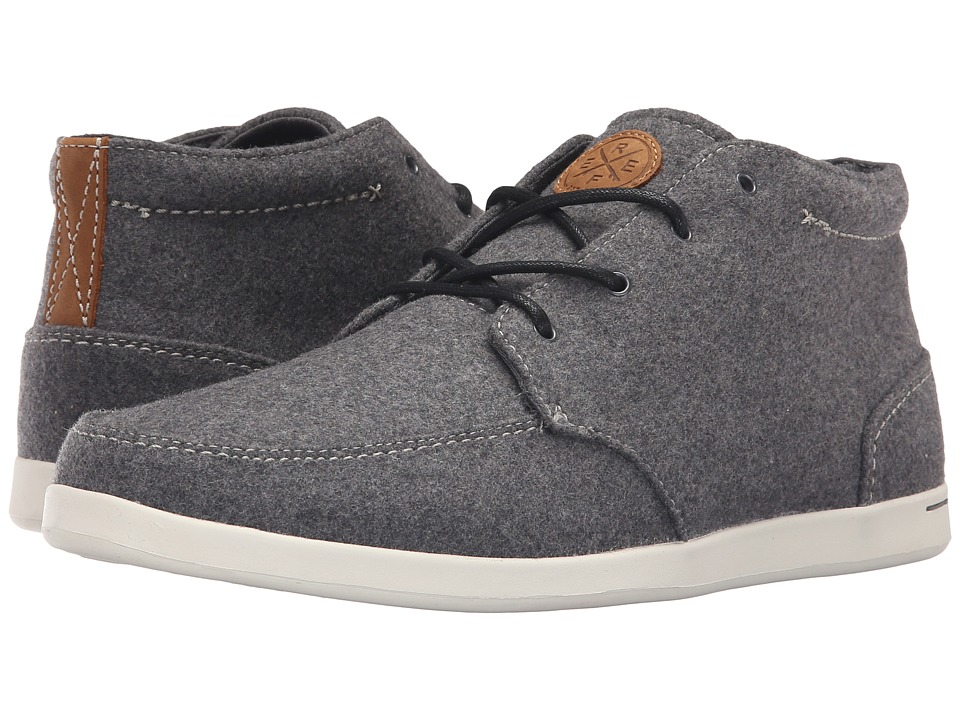 Reef - Spiniker Mid Wool (Grey Wool) Men's Lace up casual Shoes