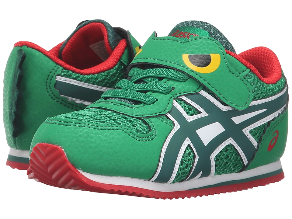 ASICS Kids - Animal Pack (Toddler) (Green/Dusky Green/Red) Boys Shoes