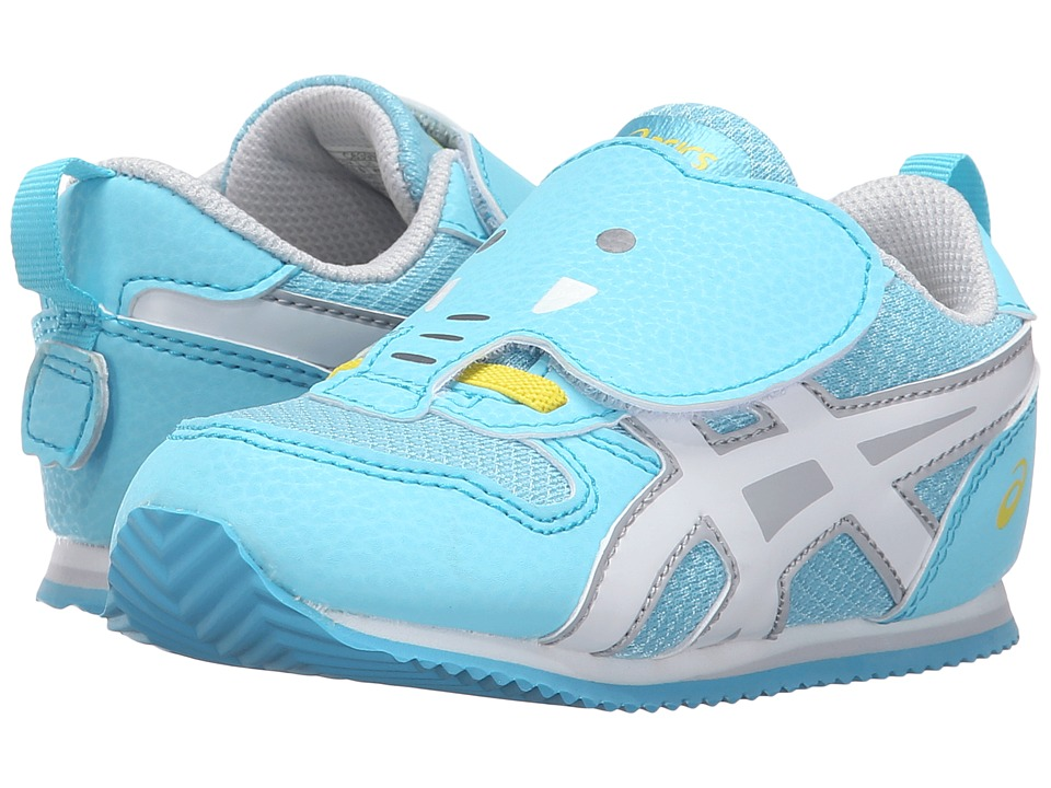 ASICS Kids Animal Pack (Toddler) (Light Blue/White/Yellow) Girls Shoes