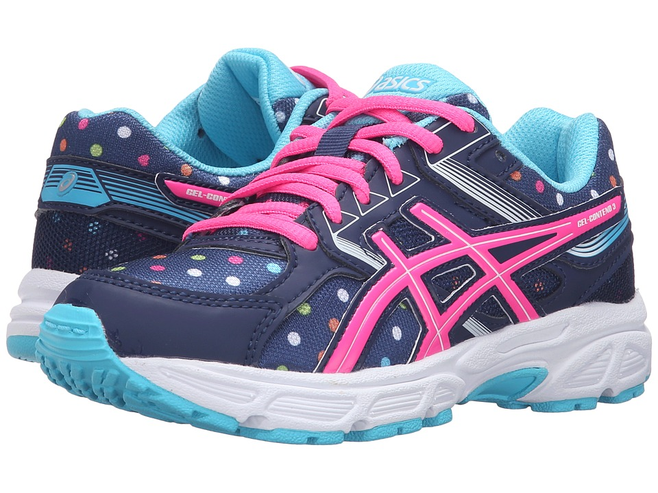 ASICS Kids - Gel-Contend 3 GS (Little Kid/Big Kid) (Indigo Blue/Pink Glow/Aquarium) Girls Shoes
