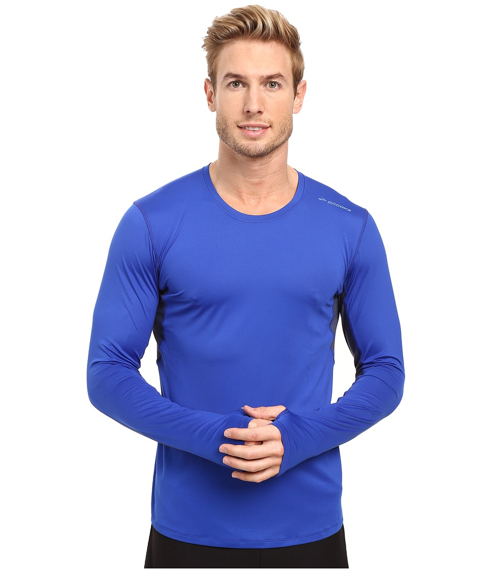 Brooks - Steady Long Sleeve Top (Basin/Coast) Men's Long Sleeve Pullover