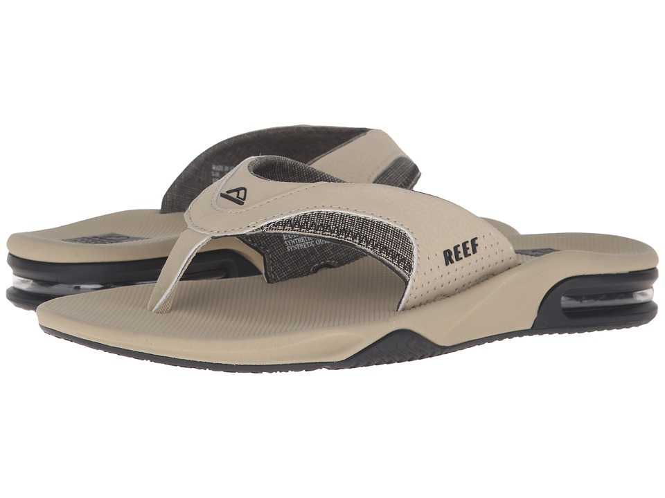 Reef - Fanning Prints (Black/Tan) Men's Sandals