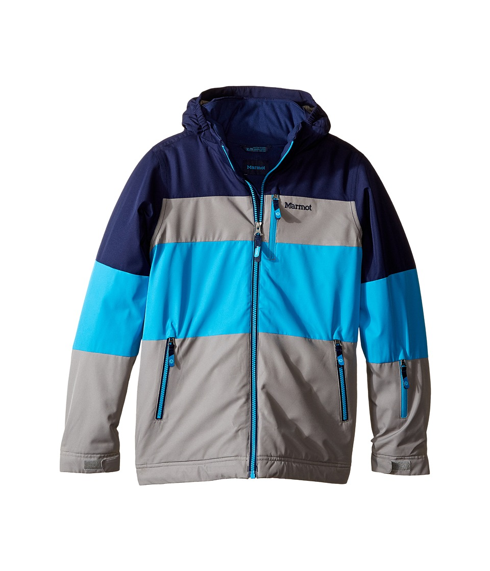 Marmot Kids - Headwall Jacket (Little Kids/Big Kids) (Phantom Grey/Arctic Navy) Boy's Coat
