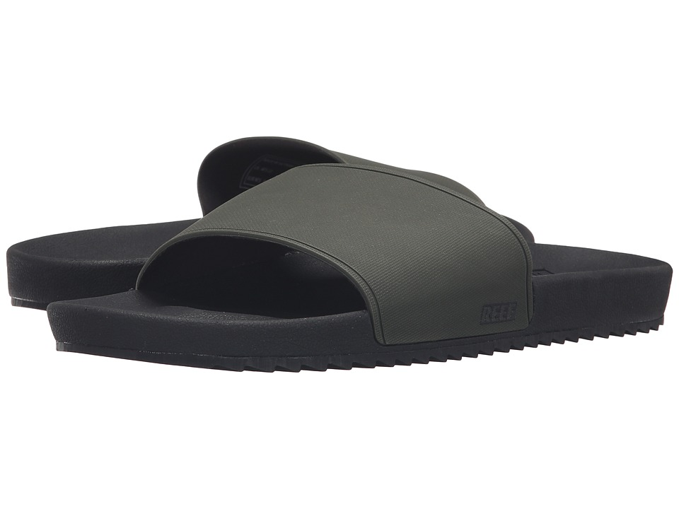 Reef - Slidely (Black/Olive) Men's Sandals