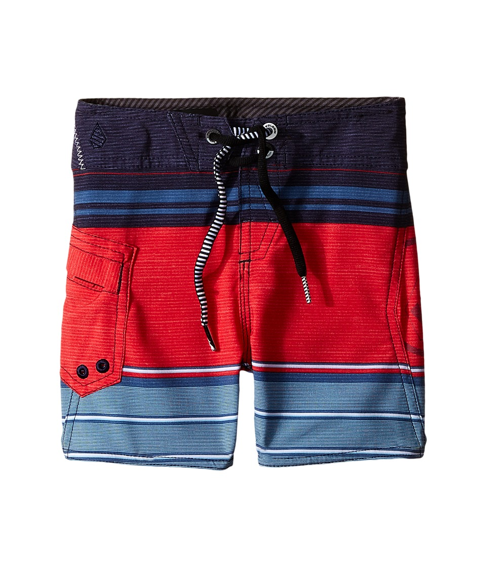 Volcom Kids - Lido Liner Mod Boardshorts (Toddler/Little Kids) (Smokey Blue) Boy's Swimwear