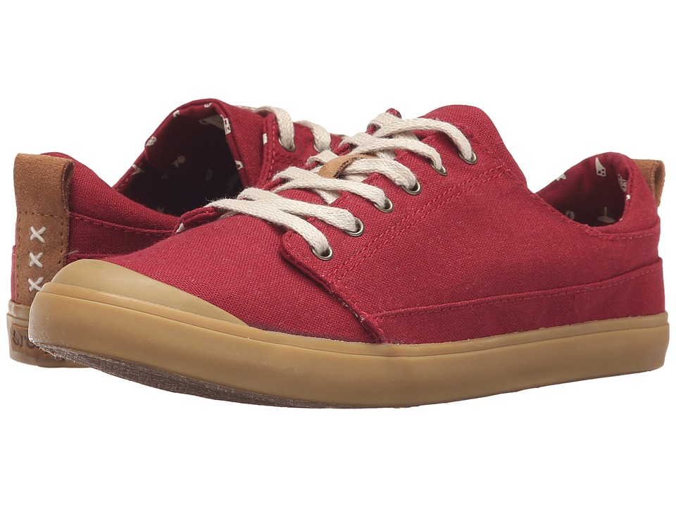 Reef - Walled Low (Dark Red) Women's Lace up casual Shoes