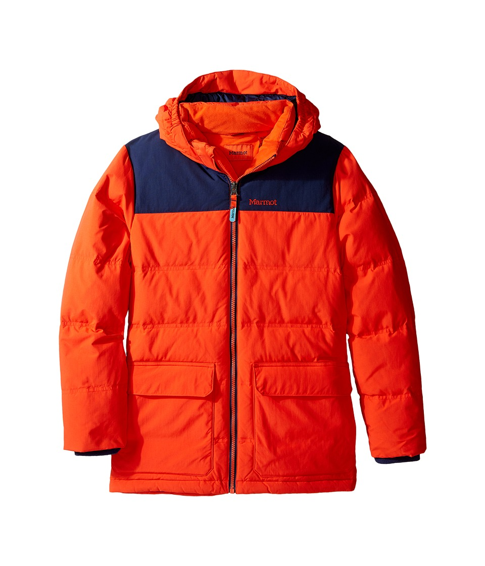 Marmot Kids - Rail Jacket (Little Kids/Big Kids) (Mars Orange/Arctic Navy) Boy's Coat