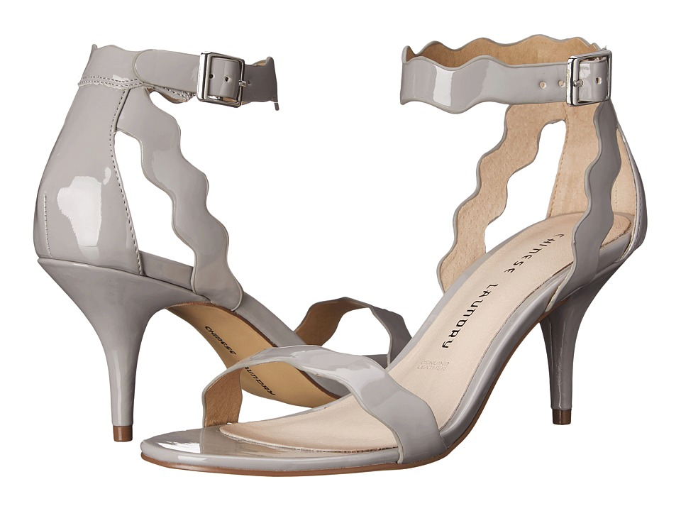 Chinese Laundry - Rubie Scalloped Sandal (Grey Patent) High Heels