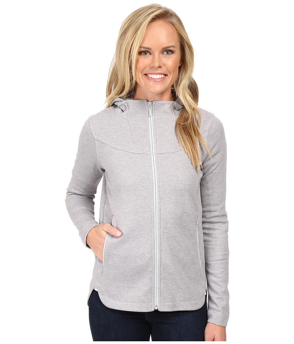 The North Face Slacker High Collar Full Zip (TNF Light Grey Heather) Women