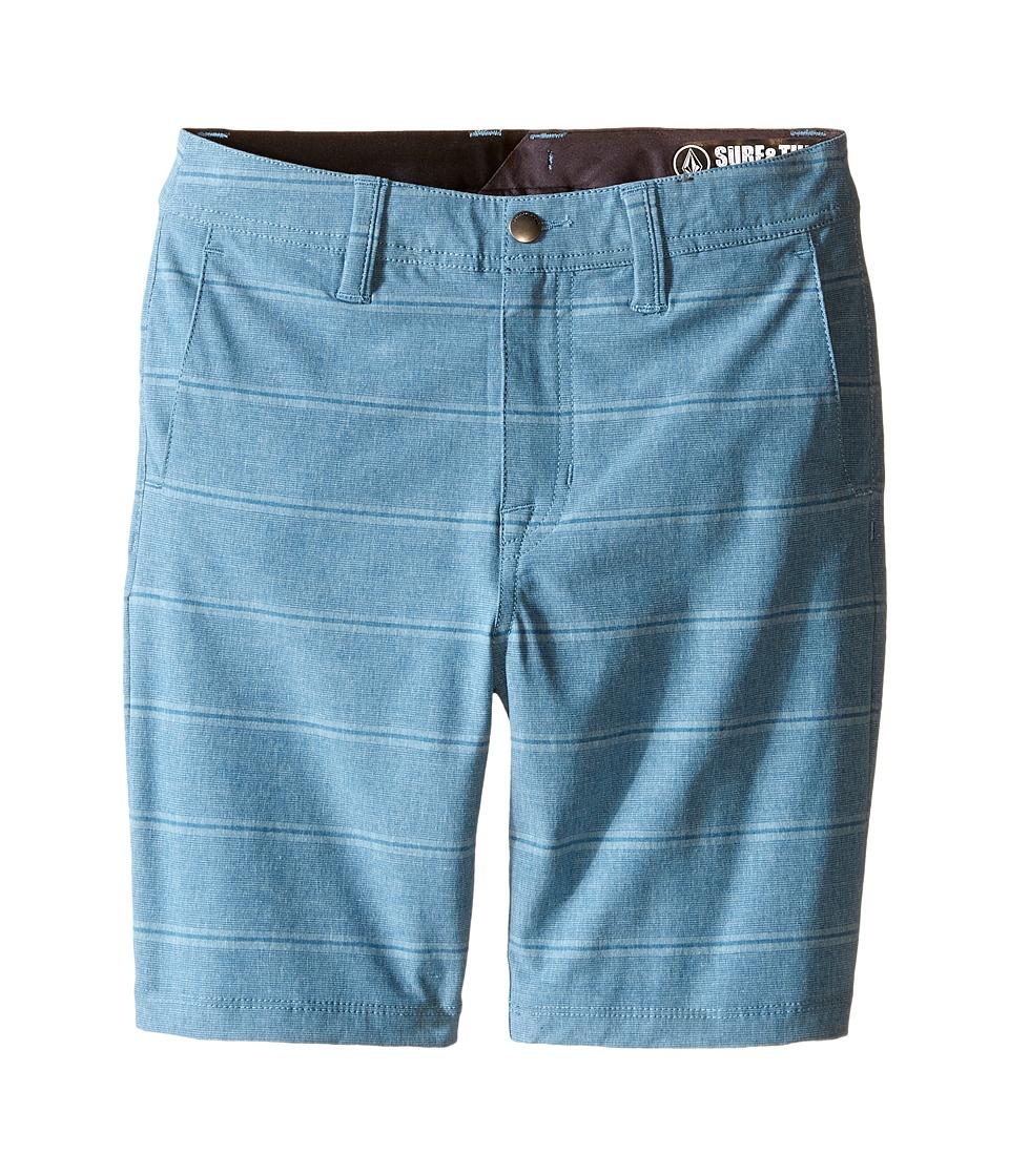 Volcom Kids - SNT Mix Hybrid Shorts (Toddler/Little Kids) (Vintage Blue) Boy's Shorts