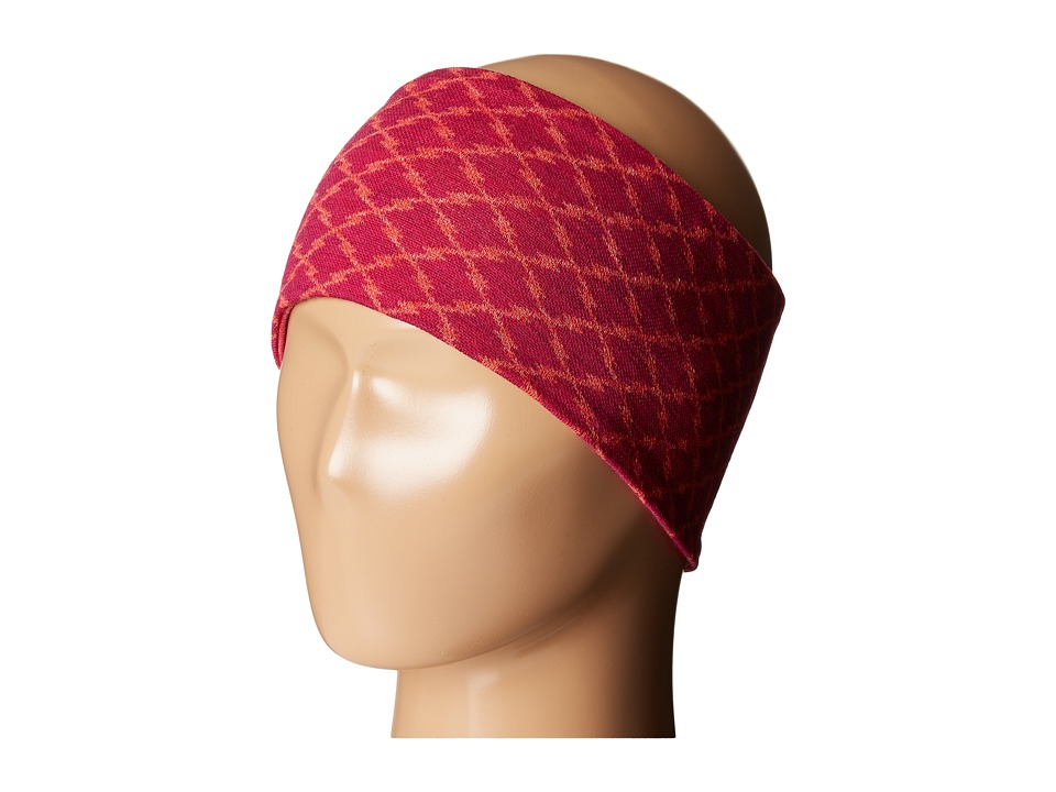 Smartwool - NTS 250 Reversible Pattern Headband (Berry Heather) Cold Weather Hats