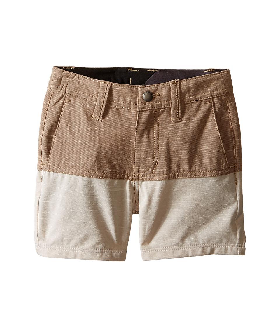 Volcom Kids - SNT Block Shorts (Toddler/Little Kids) (Beige) Boy's Shorts