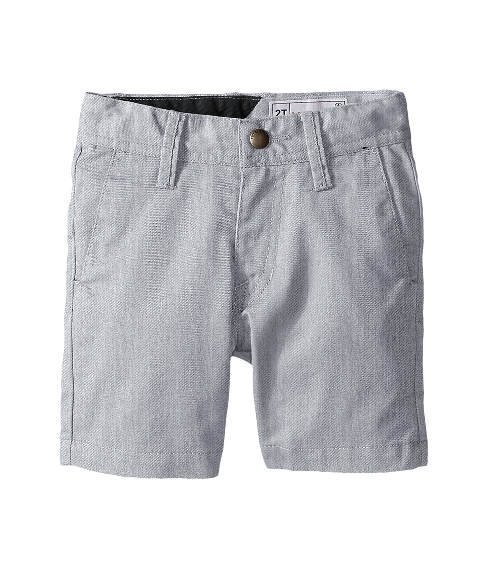 Volcom Kids - Frickin Chino Shorts (Toddler/Little Kids) (Grey) Boy's Shorts
