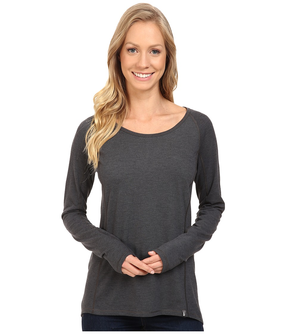 The North Face - Long Sleeve FlashDry Top (TNF Dark Grey Heather) Women's Long Sleeve Pullover