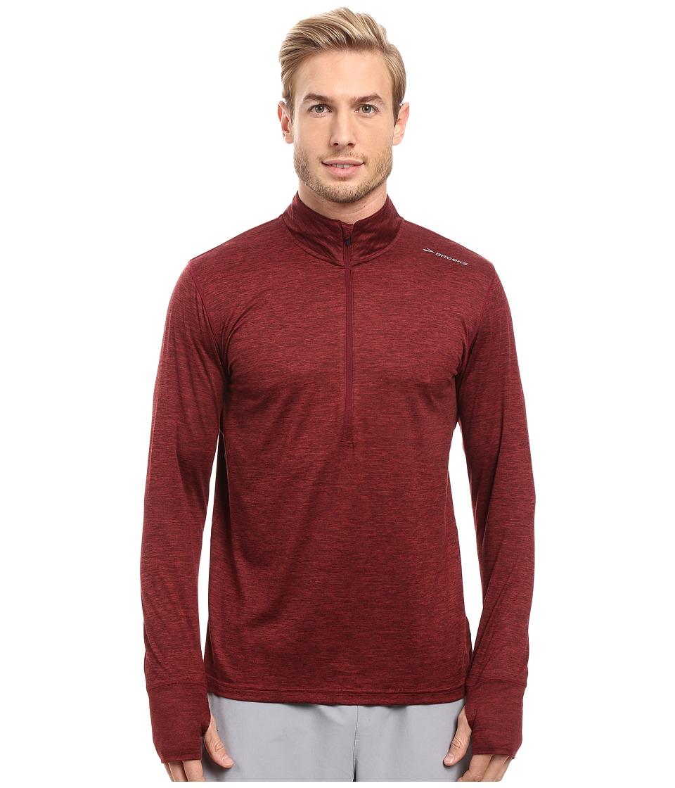 Brooks - Dash 1/2 Zip (Heather Root) Men's Long Sleeve Pullover