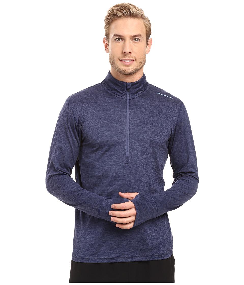 Brooks - Dash 1/2 Zip (Heather Coast) Men's Long Sleeve Pullover