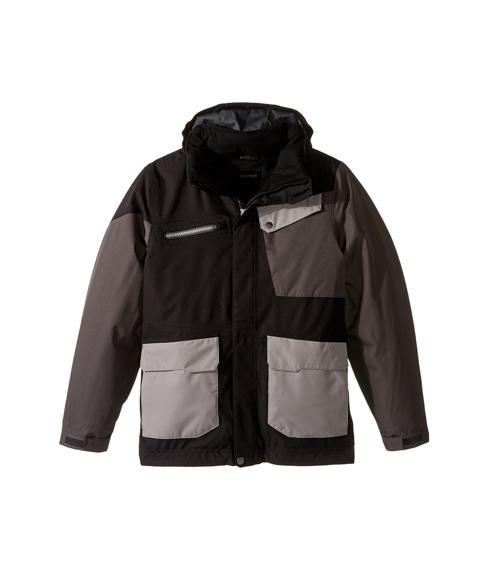 Marmot Kids - Boy's Space Walk Jacket (Little Kids/Big Kids) (Black/Slate Grey) Boy's Jacket