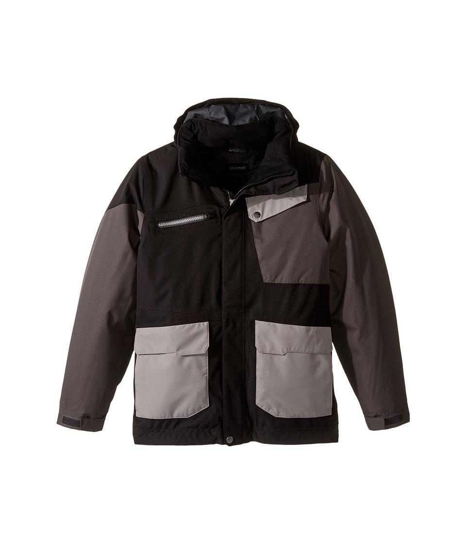 Marmot Kids - Boy's Space Walk Jacket (Little Kids/Big Kids) (Black/Slate Grey) Boy's Jacket