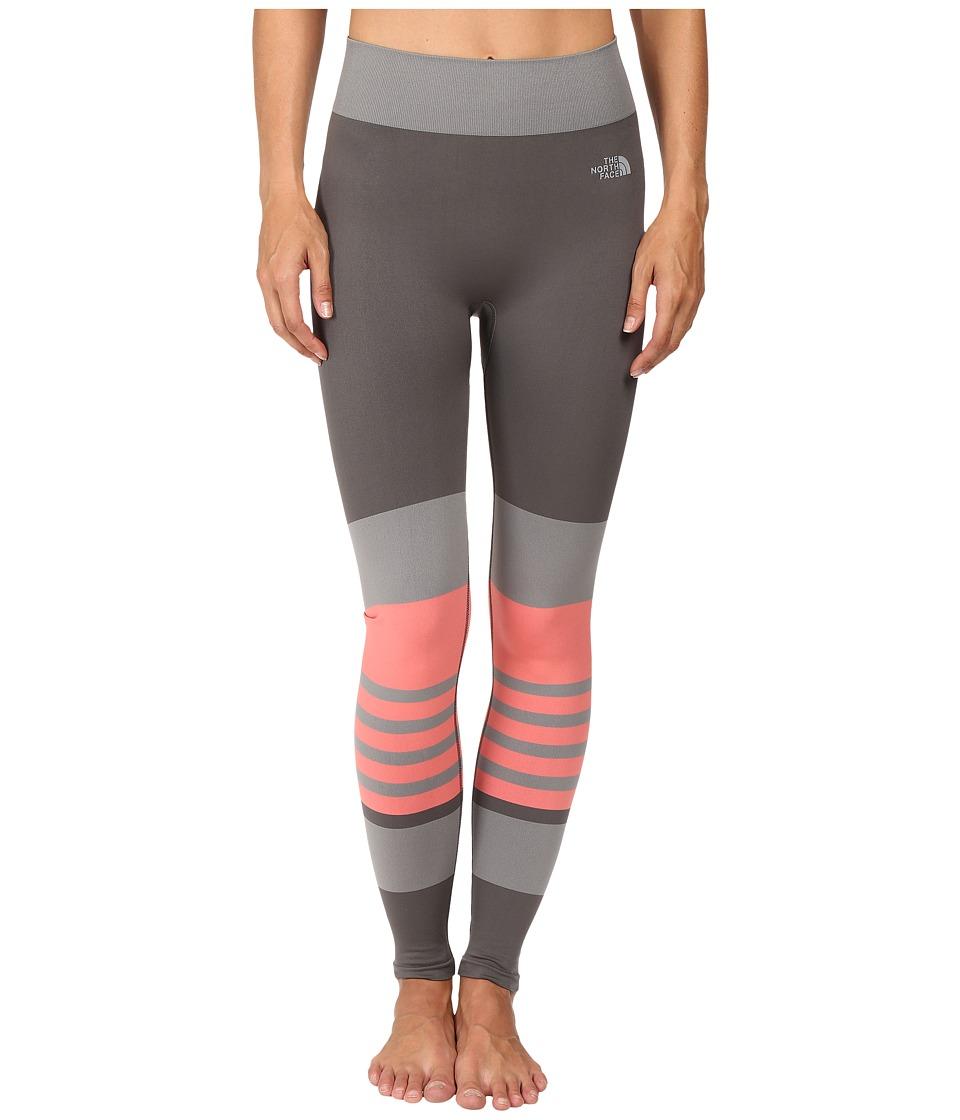 The North Face Secondskin Leggings (Graphite Grey/Calypso Coral) Women