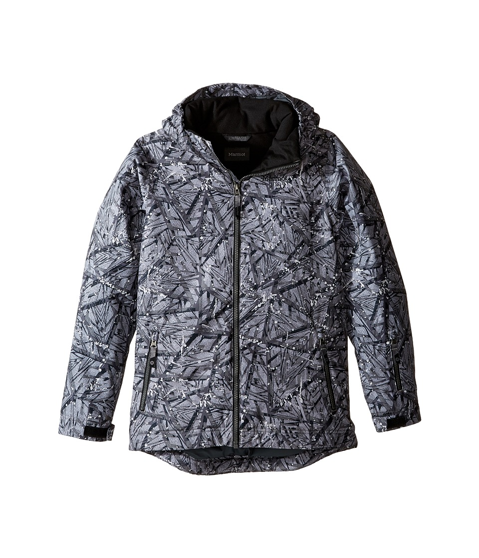 Marmot Kids - Powderhorn Jacket (Little Kids/Big Kids) (Black Shred) Boy's Coat