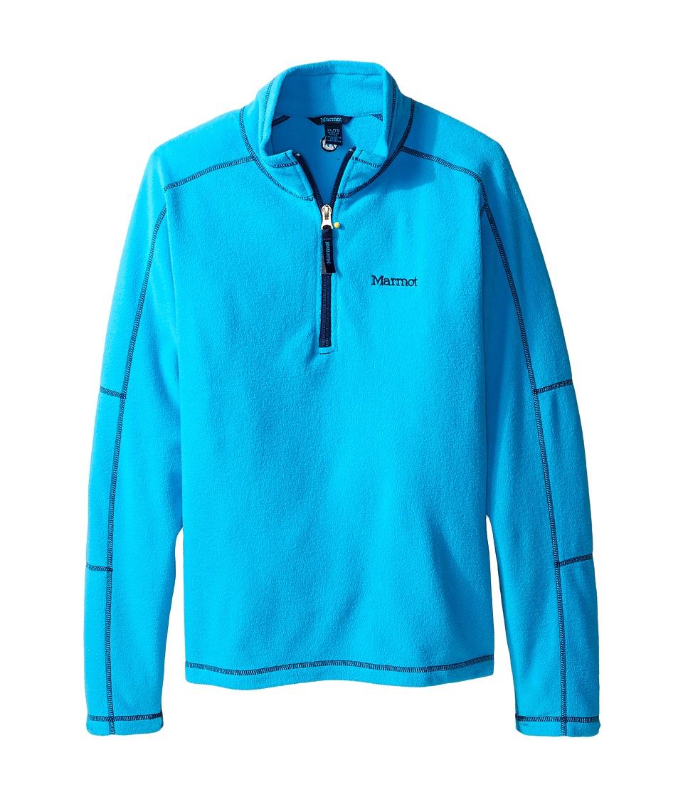 Marmot Kids - Boy's Rocklin 1/2 Zip (Little Kids/Big Kids) (Bahama Blue) Boy's Sweatshirt