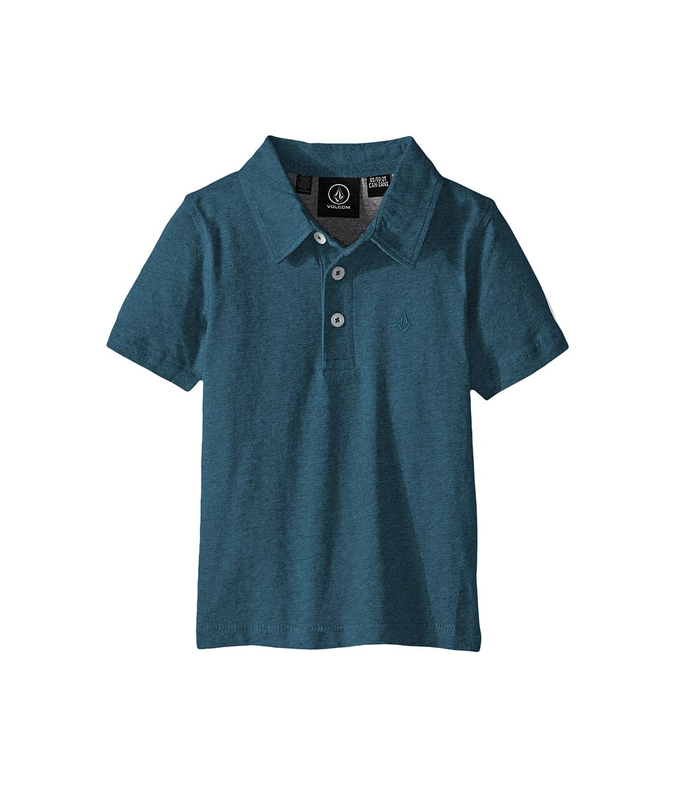 Volcom Kids - Wowzer Polo (Toddler/Little Kids) (Sun Faded Indigo) Boy's Short Sleeve Knit