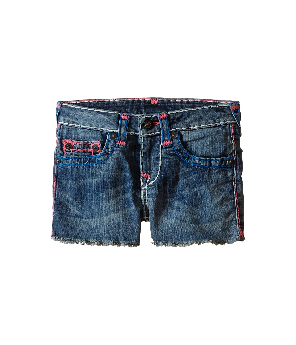 True Religion Kids - Joey Super T Shorts (Toddler/Little Kids) (Blue Radiance) Girl's Shorts