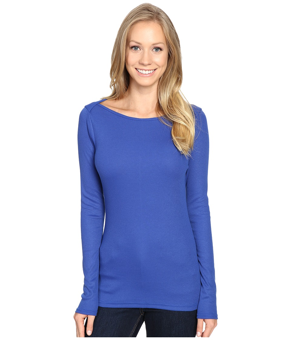 The North Face - Long Sleeve EZ Ribbed Top (Bright Cobalt Blue Dark Heather) Women's Long Sleeve Pullover