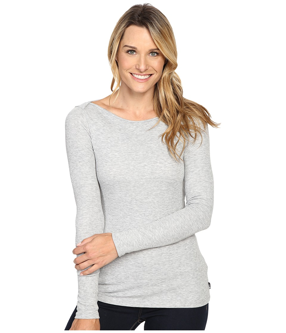 The North Face - Long Sleeve EZ Ribbed Top (TNF Light Grey Heather) Women's Long Sleeve Pullover