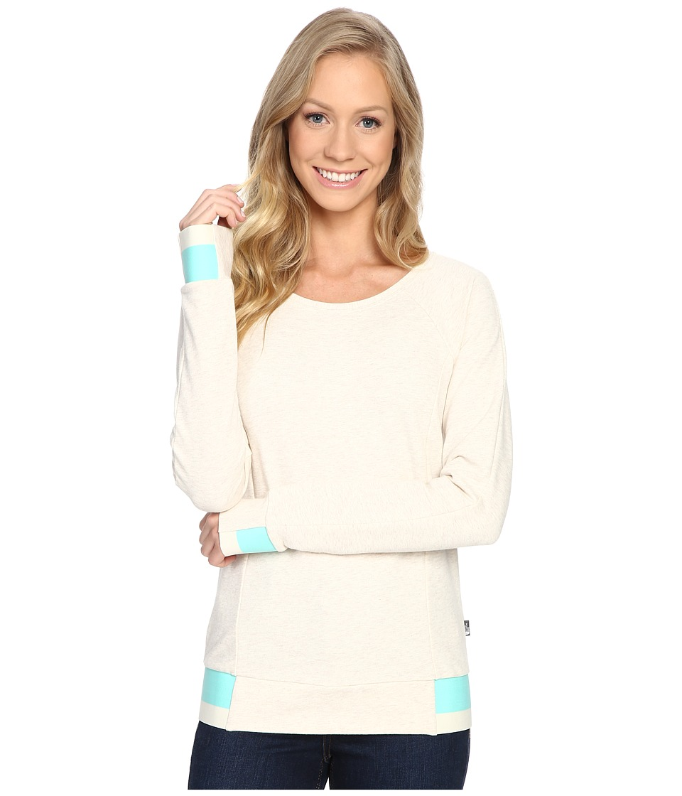 The North Face - Street Lounge Crew (TNF Oatmeal Heather) Women's Long Sleeve Pullover