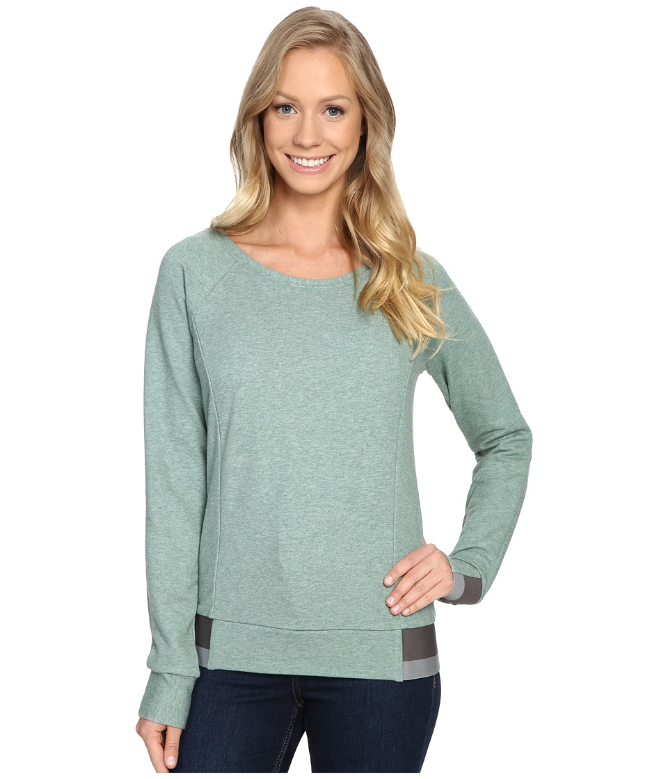 The North Face - Street Lounge Crew (Deep Sea Light Heather) Women's Long Sleeve Pullover