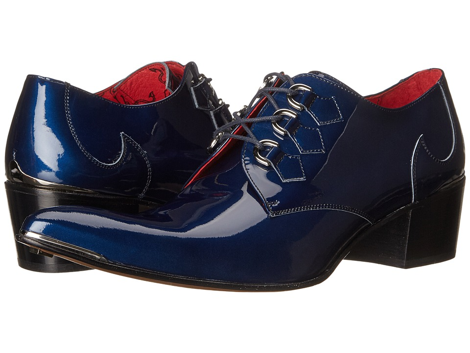 Jeffery-West - D Ring Gibson (Charcoal Metal/Dark Blue) Men's Shoes
