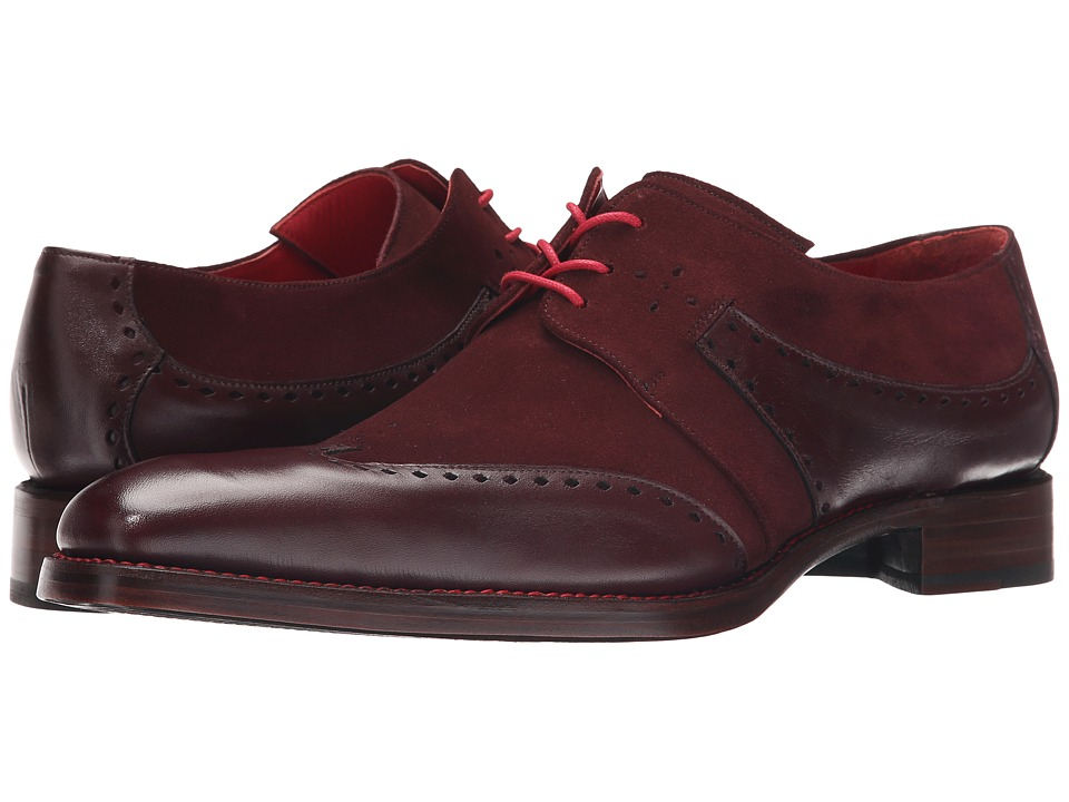 Jeffery-West - Slot Gibson (Rioja Travy/Burgundy Suede) Men's Shoes