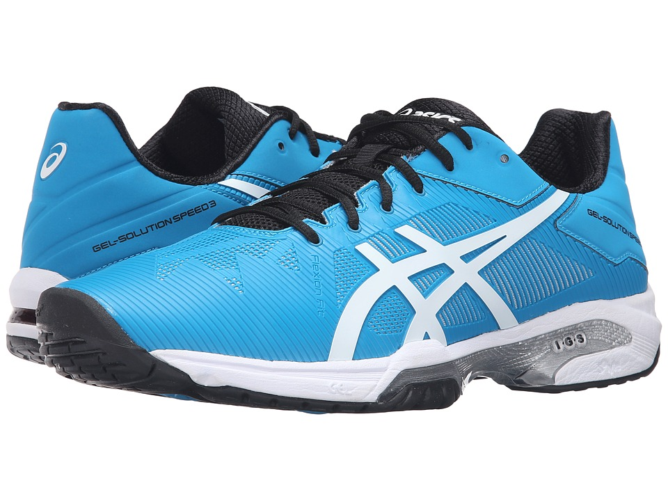 ASICS - Gel-Solution Speed 3 (Blue Jewel/White/Anthracite) Men's Tennis Shoes